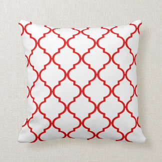 Quatrefoil DIY CHOOSE YOUR OWN COLOR | red Throw Pillow