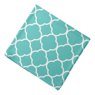 Quatrefoil dog head kerchiefs
