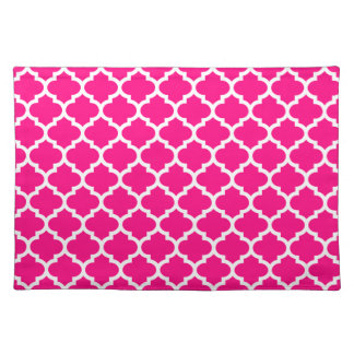 Quatrefoil Hot Pink Placemat