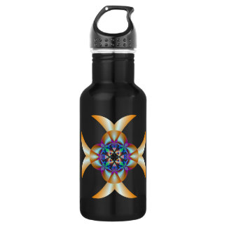 Quatrefoil in Blue and Gold 532 Ml Water Bottle