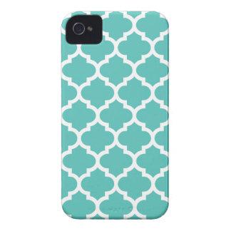 Quatrefoil iPhone 4/4S Case in Turquoise