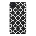 Quatrefoil iPhone 4S Case in Black and White