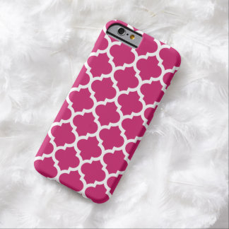 Quatrefoil iPhone 6 Case in Fuchsia Red Barely There iPhone 6 Case