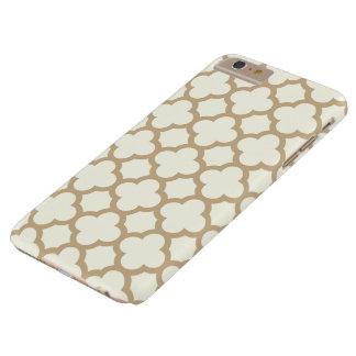 Quatrefoil iPhone 6 Plus Case in Sand Brown