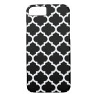 Quatrefoil iPhone 7 Case in Black and White