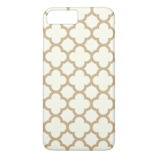 Quatrefoil iPhone 7 Plus Case in Sand Brown