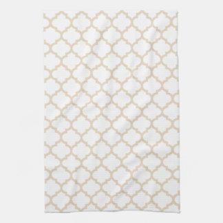 Quatrefoil Kitchen Towel in Ivory