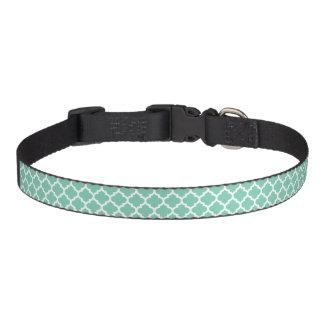 Quatrefoil Lattice Trellis Pattern Any Color Pet Collar