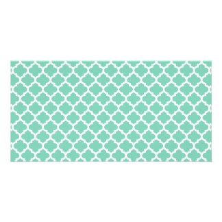 Quatrefoil Lattice Trellis Pattern Any Color Photo Greeting Card