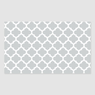 Quatrefoil Lattice Trellis Pattern Any Color Rectangular Sticker