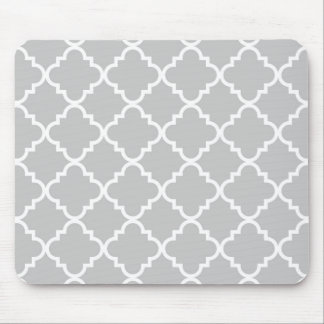 Quatrefoil Mousepad - Grey
