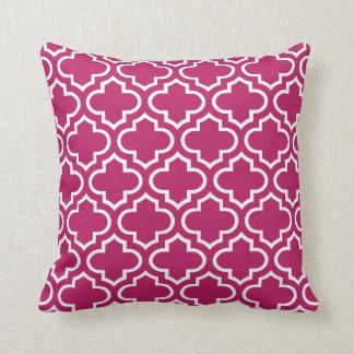 Quatrefoil Pattern Pillow in Madder Carmine Cushion