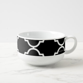 Quatrefoil Pattern Soup Bowl