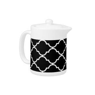 Quatrefoil Patterned Teapot
