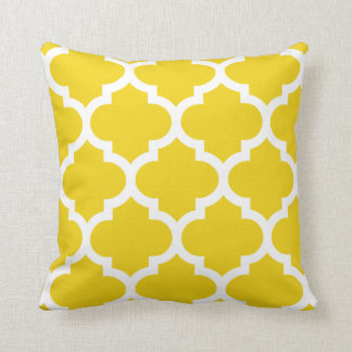 Quatrefoil Pillow in Lemon Yellow