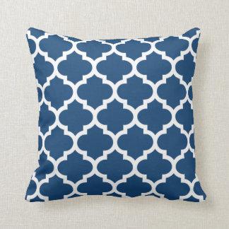 Quatrefoil Pillow - Monaco Blue Pattern