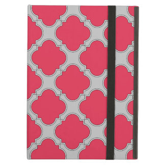 Quatrefoil red and gray case for iPad air