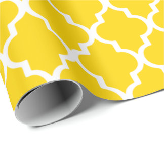 Quatrefoil Wrapping Paper - Freesia Yellow