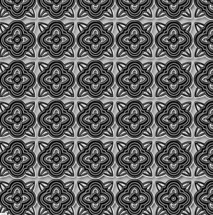 Quatrefoils Black On Silver Shower Curtain