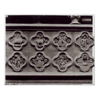 Quatrefoils with the Signs of the Zodiac Poster
