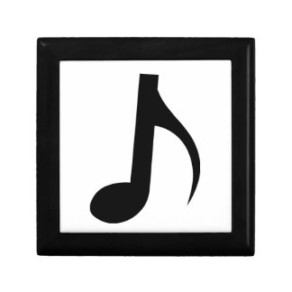 Quaver Musical Note Small Square Gift Box