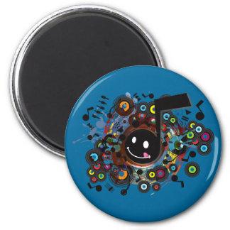 Quaver(S) 6 Cm Round Magnet