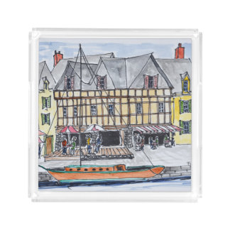 Quay Franklin, Saint-Goustan | Auray, Brittany Acrylic Tray