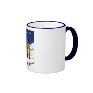 Que la neige soit/Skieur grande tasse Coffee Mug