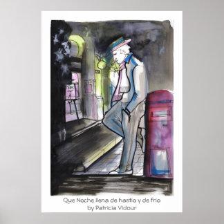 Que Noche llena de hastio y de frio Tango Poster