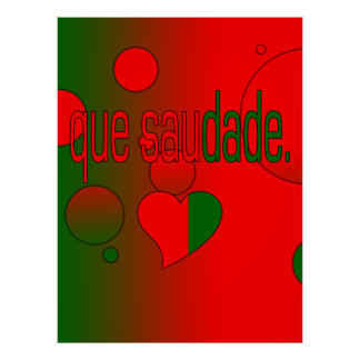Que Saudade! Portugal Flag Colors Pop Art Posters
