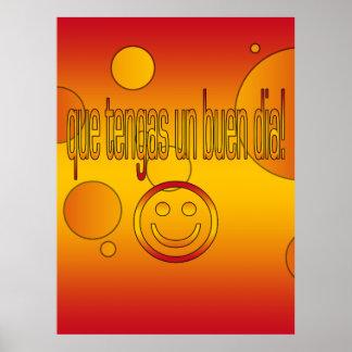 Que Tengas un Buen Día Spain Flag Colors Pop Art Poster
