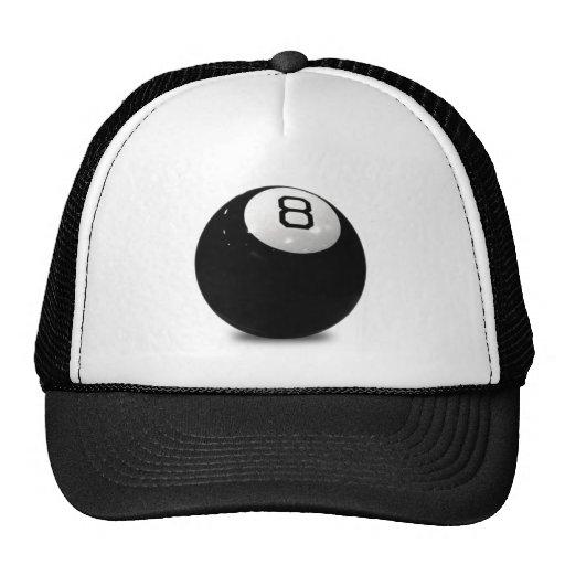 QUEBALL POOL GAME SPORTS FUN ICON LOGO BLACK WHIT HAT