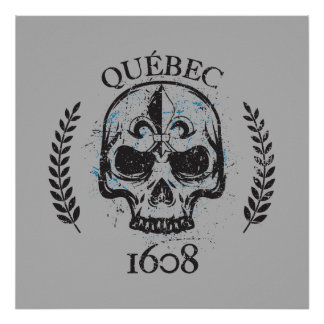 Quebec 1608 shows off grunge style metal 1608 poster
