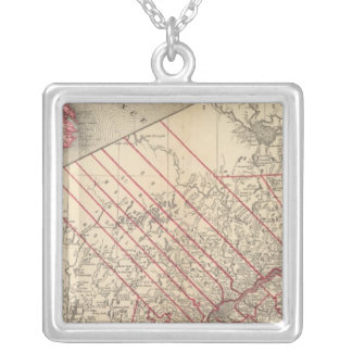Quebec 3 silver plated necklace