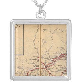 Quebec 4 silver plated necklace