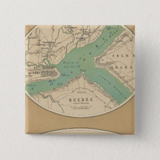 Quebec and its Environments 15 Cm Square Badge