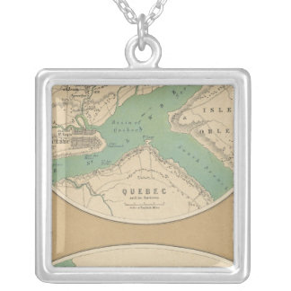 Quebec and its Environments Silver Plated Necklace