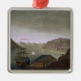 Quebec and the St. Lawrence River, plate 4 from 'L Christmas Ornament