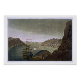 Quebec and the St. Lawrence River, plate 4 from 'L Poster