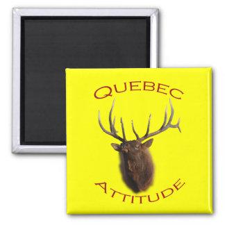 Quebec Attitude Square Magnet