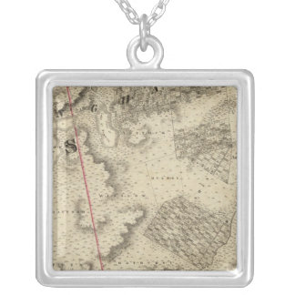 Quebec, Canada 5 Silver Plated Necklace