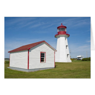 Quebec, Canada. Cap D'Espoir Lighthouse. Card