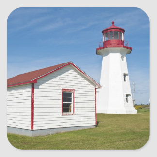 Quebec, Canada. Cap D'Espoir Lighthouse. Square Sticker