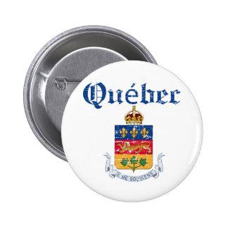 Quebec Canada coat of arms design 6 Cm Round Badge