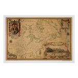 Quebec Canada Early Map 1688 Poster