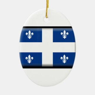Quebec (Canada) Flag Christmas Ornament
