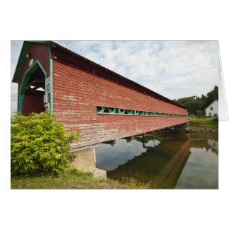 Quebec, Canada. Galipeault covered bridge in Card