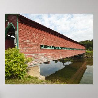 Quebec, Canada. Galipeault covered bridge in Poster