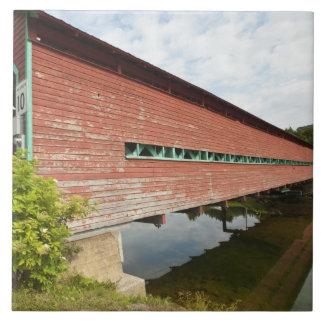 Quebec, Canada. Galipeault covered bridge in Tile