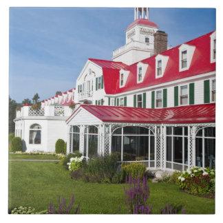 Quebec, Canada. Historic Hotel Tadoussac, 2 Large Square Tile